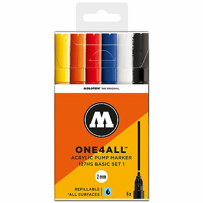 Molotow - One4All Acrylic Marker 127 Hs Basic-Set 1