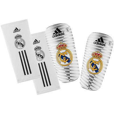Mens LARGE Adidas REAL MADRID Pro Lite Shin Pads Slip In Adult Football Soccer