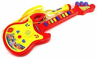 Childrens Kids Childs Easy Play Toy Musical Guitar & Microphone In Retail Box Ne
