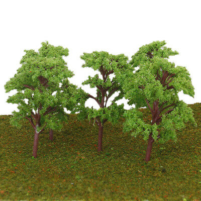 10Pcs Train Park Scenery Landscape Model Green Banyan Trees 1:75 -100 Scale