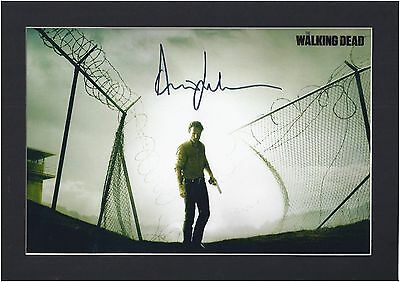 The Walking Dead, Andrew Lincoln (Rick) Signed Photo Mount Display,PP