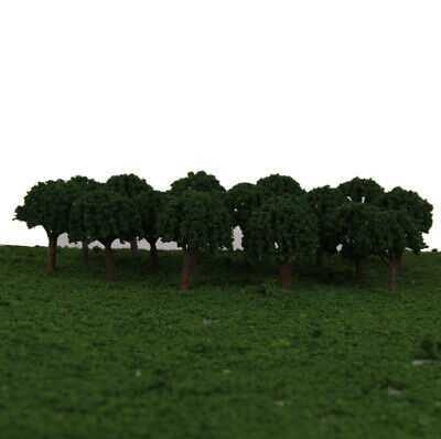 50 Dark Green Ball Shaped Tree Model Train Railway Diorama Scenery 1/500 3cm