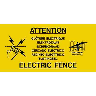 Fenceman Electric Fence Warning Sign