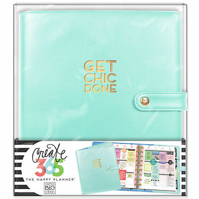 NEW MAMBI CLASSIC The Happy Planner- Classic Deluxe Cover, Mint / pastel blue