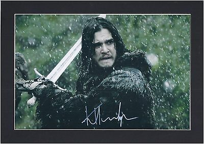 "Kit Harrington ""GAME OF THRONES"" John Snow SIGNED MOUNTED PHOTO PP A4"