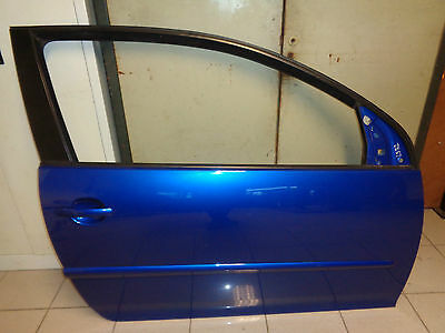 Door Front Right (Blue LB5R) VW Golf V 5 3-Türer Bj.06 Lager5R2