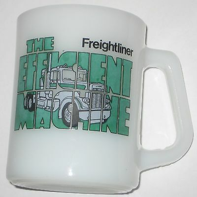 Mug FEDERAL Milk GLASS Advertising FREIGHTLINER TRUCKING The EFFICIENT MACHINE