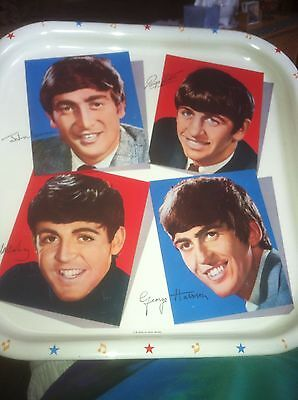 Beatles Original Tray Excellent Plus With 3 Original  Tags-Price- Store Stickers