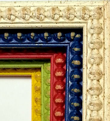 MADE IN ITALY ~ 38 ft ~ Colorful Picture Frame Moulding, Tall Bead, MIX & MATCH
