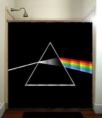 Pink Floyd Dark Side Moon Album Record LP Shower Curtain Roger Waters Gilmour