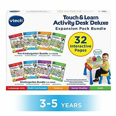 VTech Touch and Teach Activity Desk Deluxe 4-in-1 Kindergarten Bundle Expansion