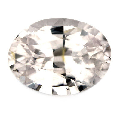 Certified Natural White Sapphire 1.07ct Oval Cut, Madagascar Gemstone