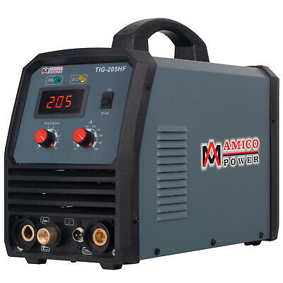 TIG-205 200 Amp HF-TIG Torch Stick Arc DC Welder 115/230V Dual Voltage Welding