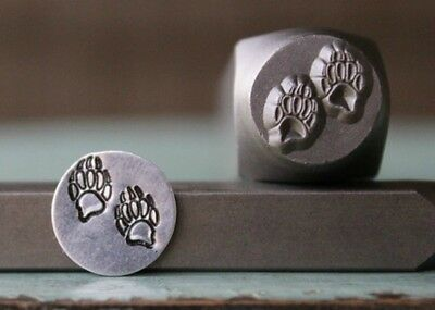 SUPPLY GUY 10mm Bear Claws or Paws Metal Punch Design Stamp SGCH-114