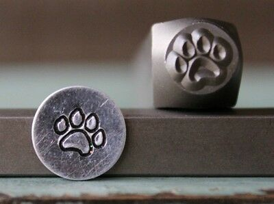 SUPPLY GUY 7mm Dog Paw Metal Punch Design Stamp SGCH-120