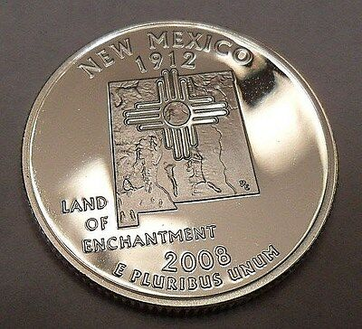 2008 S New Mexico  *90% Silver Proof*  State Quarter   **free Shipping**