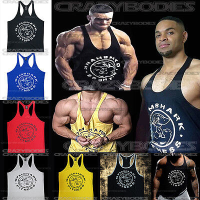 GymShark Stringer gym shark tank top men bodybuilding tanks workout shirt muscle