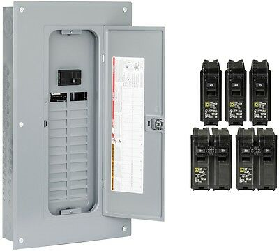 Square D 24-Space 100-Amp Main Breaker Electrical Service Load Center Box