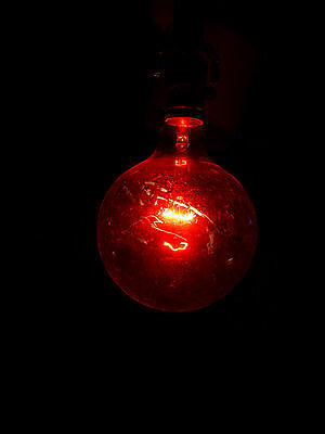 Vintage Darkroom Safe Light Red Bulb Lamp Film Developing Photography LG Round