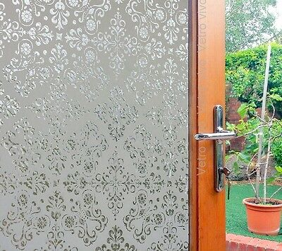 92 CM x 1 M - ARABESQUE Glueless Reusable Static Frosted Window Glass Film