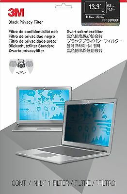 """3M Privacy Screen Protector Filter for 13.3"""" Widescreen Laptop (16:9) PF133W9B"""