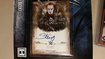 2016 Topps WWE Undisputed Sting Auto Autograph GOLD #7/10WRESTLING CARD WCW TNA
