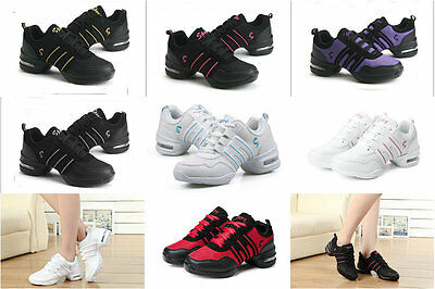 Women Hip Hop Jazz Dance Sneaker Lace Up Athletic Dancewear Sport Shoes 7 Colors