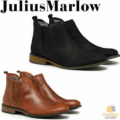 JULIUS MARLOW Abort Leather Boots Slip On Dress Work Formal Casual Shoes Chelsea