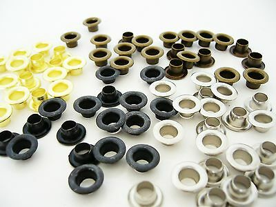 Eyelets  Leather Craft  Banne 4 x 8,5 mm.  various quantities  No.102/B90