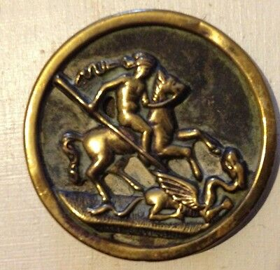 Set of 3 Late 19th Century 34mm Brass Buttons depicting St George & the Dragon
