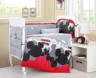 Baby Bedding Crib Cot Sets. 10 Piece Mickey Mouse Theme. RRP $150