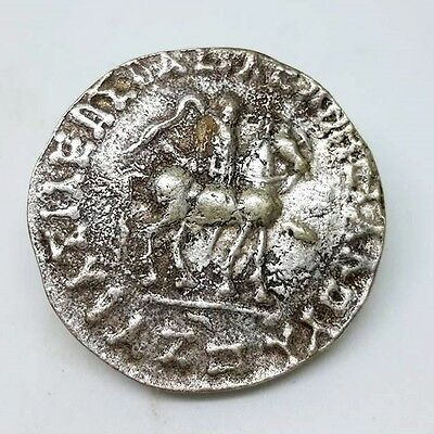 Rare Ancient Rome Worrior Silver Coin