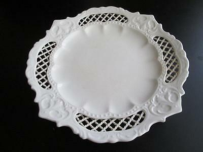 Genuine Antique Pierced Creamware Rope Border Plate, possibly Leeds #4