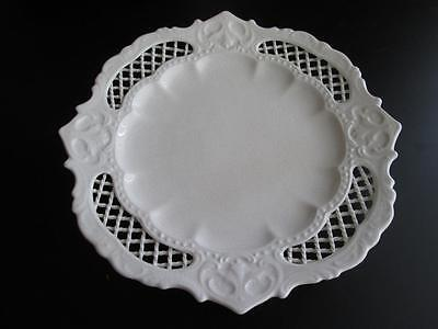 Genuine Antique Pierced Creamware Rope Border Plate, possibly Leeds #5