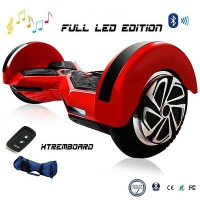 "Gyropode Skate Electrique Scooter Self Balancing 8"" Bluetooth Auto-équilibrage"