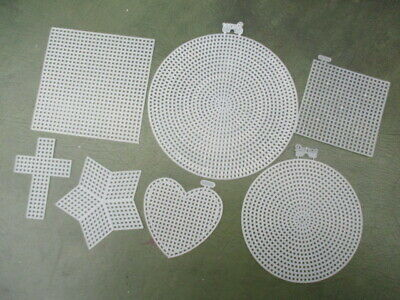 Darice Plastic Canvas Shapes - Choose 2, 5, 10 Shapes - Round, Square & Heart