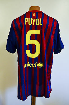 Barcelona Spain 2011/2012 Player Issue Home Football Shirt Jersey Nike Puyol #5