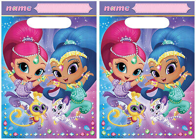 SHIMMER AND SHINE Genie Favor Loot Treat Bags Birthday Party Supplies 16