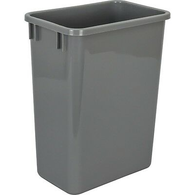 35 Quart Grey Heavy Duty Kitchen Cabinet Trash Can Garbage Pullout Plastic Gray