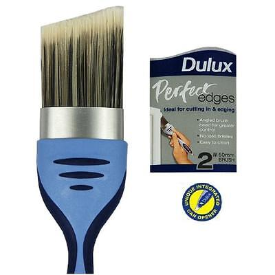 "DULUX PERFECT EDGE 2"" 50mm ANGLED PAINT BRUSH  NO LOSS BRISTLES. FOR CUTTING IN"