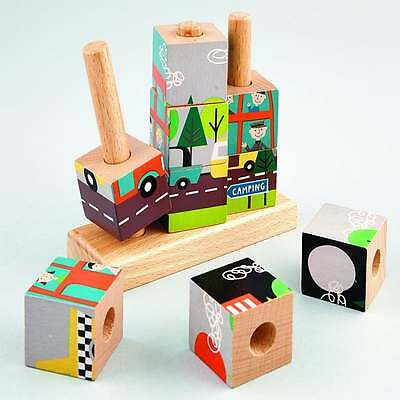 Floss & Rock Transport Wooden Cube Puzzle