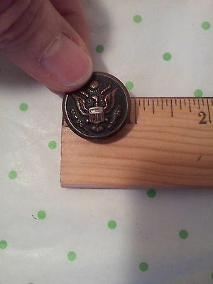 WW1 US Army Bronze Coat Cuff Button