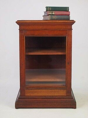 Antique Victorian Mahogany Cabinet - Cupboard with Drawer Music Collectors Chest