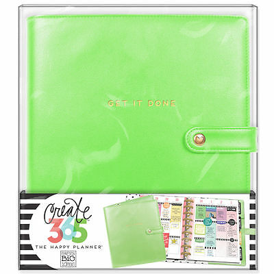 NEW MAMBI CLASSIC The Happy Planner- Classic Deluxe Cover - Spring Green