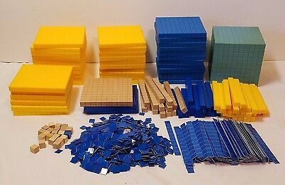 Base 10 Math Manipulative Elementary Home Schooling Education Blocks Teaching