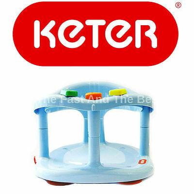 Baby Bath Tub Ring Seat Keter Infant Anti Slip Chair Safety BLUE FREE SHIPPING!