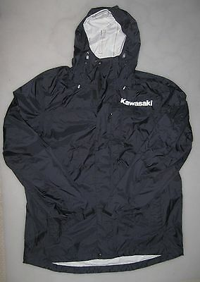 TEAM KAWASAKI L.L.BEAN TRAIL MODEL HOODED RAIN JACKET L motocross monster motogp