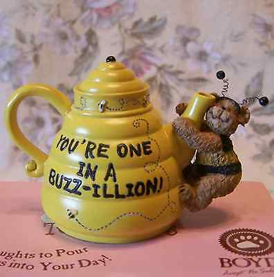 Boyds Bears Teabearies You're One ina Buzz-illion Bumblebee Teddy Greeting Gift