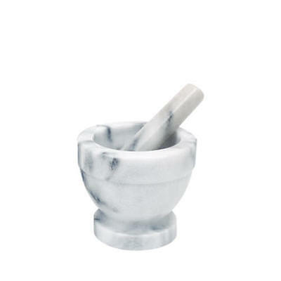 New Manual Herbs Spices Seeds & Pods Grinder Grey Marble Mortar & Pestle 10 cm