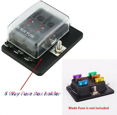 harga 6 way blade fuse box block holder circuit for car automotive 12 32v 6 way terminals circuit car boat auto blade fuse box block